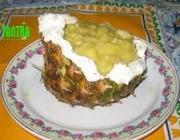 Abacaxi Recheado com Merengue