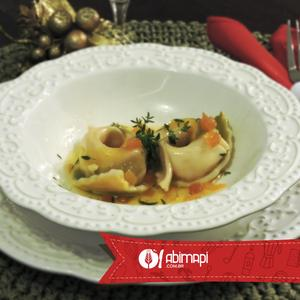 Receita de Agnolotti de Burrata ao Molho de Azeite