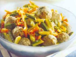 Receita de Almôndega deliciosa com legume e iogurte
