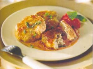 Receita de Almôndegas brancas com tomatinhos
