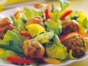 Receita de Almôndegas de tainha com verduras