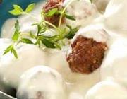 Almôndegas de Carne com Molho Branco