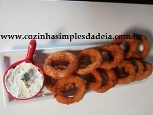 Receita de Aneis de Cebola Empanados