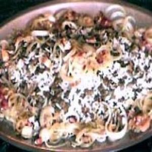 Receita de Arroz com Lentilhas e Bacon