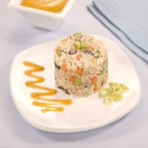 Receita de Arroz Orgânico com Cenoura e Shiitake