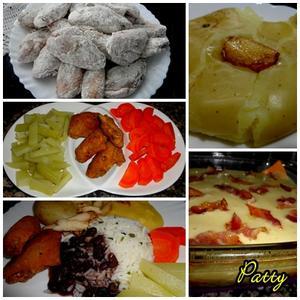 Receita de Asa de frango empanada com polenta e batata ao soco