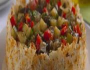 Assado Crocante de Arroz e Legumes