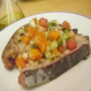 Receita de Atum com Molho de Papaia e Melancia
