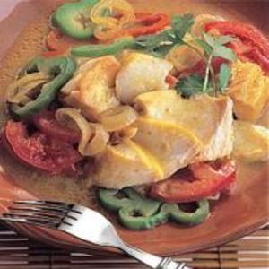 Receita de Bacalhau com curry e legumes