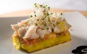 Receita de Bacalhau com mandioquinha e camarão