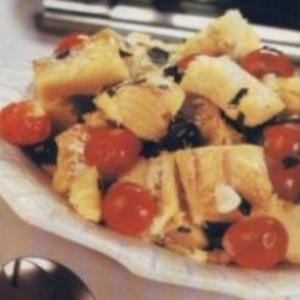 Receita de Bacalhau com tomate-cereja e azeitona