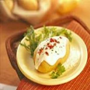 Receita de Baked potato com requeijão