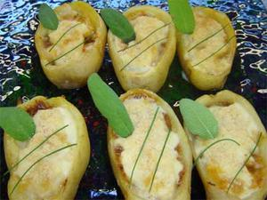 Receita de Barquetes de batatas recheadas e gratinadas