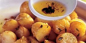 Receita de Batata ao molho no microondas
