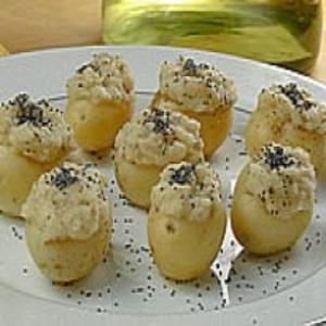 Receita de Batata Bolinha Recheada com Pasta de Feijão-Branco