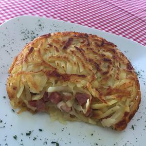 Receita de Batata Rosti de Linguiça