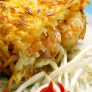 Receita de Batata rosti recheada com camarão