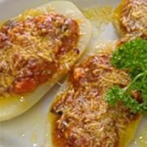 Receita de Batatas a Bolonhesa