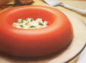 Receita de Bavarois de Tomate com Queijo