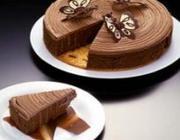 Biscuit de Amêndoas com Creme de  Chocolate