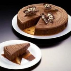 Receita de Biscuit de Amêndoas com Creme de  Chocolate