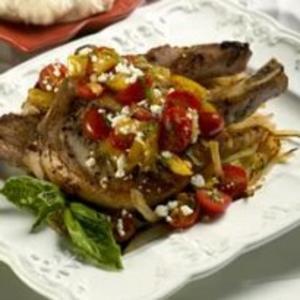 Receita de Bisteca de Porco com Molho de Tomate-Cereja