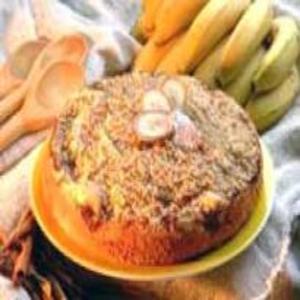 Receita de Bolo Cuca de Banana