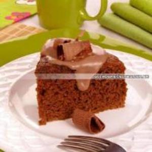 Receita de Bolo chocolate com calda
