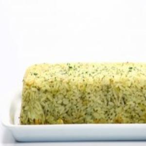 Receita de Bolo de arroz com alho-poró