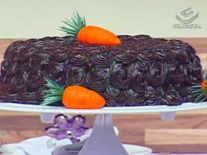 Receita de Bolo de cenoura com brigadeiro