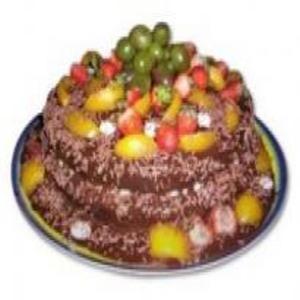 Receita de Bolo de Chocolate com Frutas