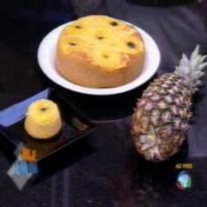 Receita de Bolo invertido de abacaxi do Edu Guedes