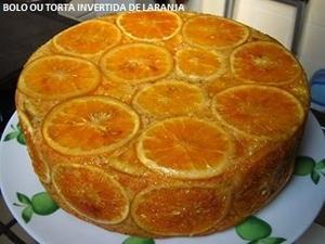 Receita de Bolo ou Torta Invertida de Laranja