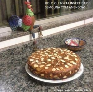 Receita de Bolo ou Torta Invertida de Semolina com Amêndoas