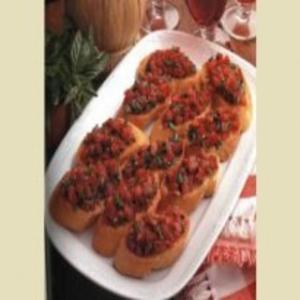 Receita de Brusquetas de polenta e linguiça