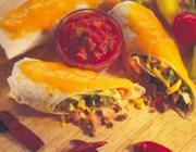 Burritos com Chili e Queijo