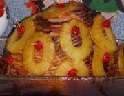 Calda de abacaxi para presunto assado
