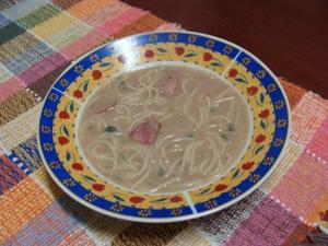 Receita de Caldinho de feijão com espaguetinho