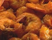 Camarão frito com casca
