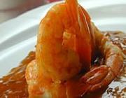 Camarão Frito com Géleia de Laranja
