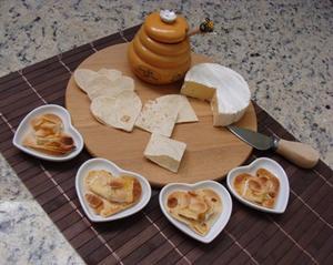 Receita de Canapés de Brie