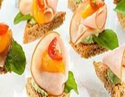 Canapés de Peito de Peru Light e Damasco