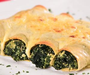 Receita de Canelone de espinafre e gorgonzola