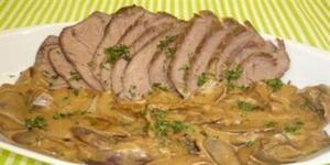 Receita de Carne assada com molho de cebolas