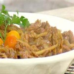 Receita de Carne Chinesa Acebolada