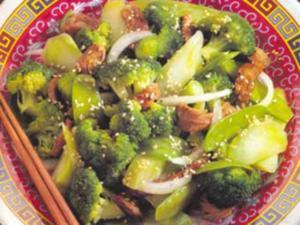 Receita de Carne e Brócolis Fritos