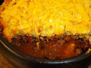 Receita de Carne moída com crosta de polenta