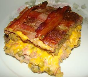 Receita de Carne Moída Recheada aos Quatro Queijos