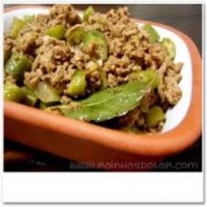 Receita de Carne Moída com Quiabo