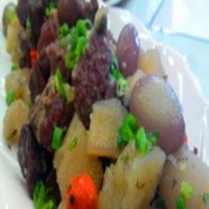 Receita de Carne Seca com Mandioca ao Forno